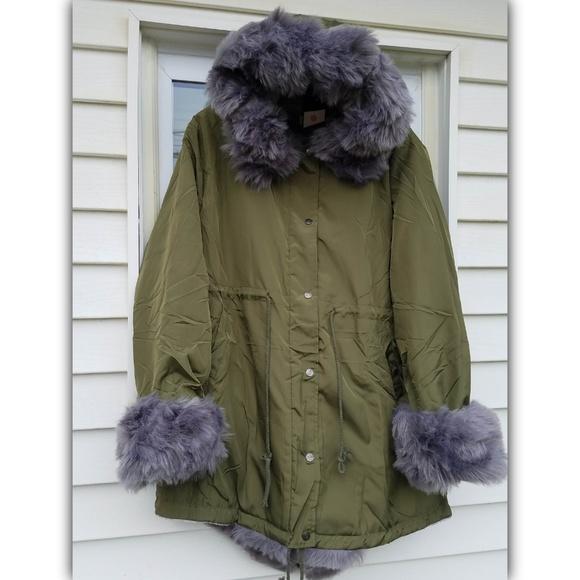 Olive Green Parka Coat